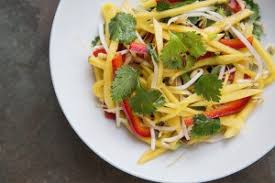 thai green mango salad food for my family