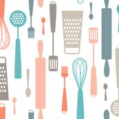 Designer Kitchen Utensils Kitchen Fabric Wallpaper U0026 Gift Wrap Spoonflower