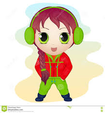 chibi boy in anime and manga style stock vector image 85772402