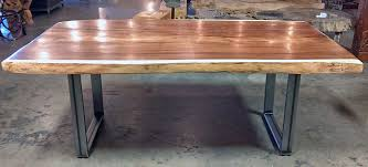 wood slab table legs steel table legs canyon styleimpact imports