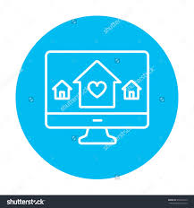 vector smart house concept set with icons and app signs save to a