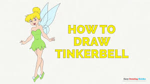 draw tinkerbell easy steps drawing tutorial