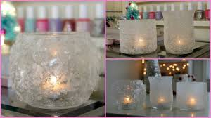 diy winter room decor winter votives