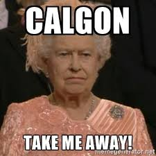 calgon take me away queen elizabeth is not impressed meme