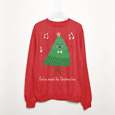 rockin around the christmas tree women u0027s sweatshirt by batch1