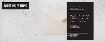 wedding invitations online australia papermarc buy white ink wedding invitations online australia