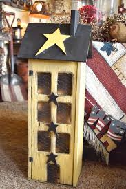 primitive wood hanging saltbox house country rustic wall decor