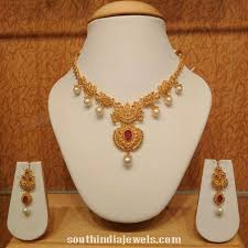 light weight gold necklace designs light weight pearl necklace south india jewels