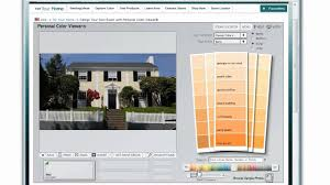 how to use the benjamin moore color picker to select house paint