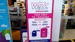 united check in luggage wizzair cabin baggage measuring cage youtube