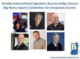 business speakers bureau international speakers bureau helps secure big name sports cel