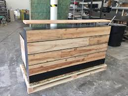 Reclaimed Wood Reception Desk Buy A Hand Made 17 Pine Reclaimed Wood Reception Desk Or