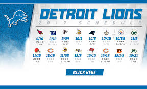 detroit lions schedule events