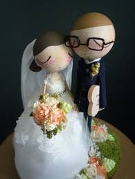 wedding cake topper with custom wedding dress and police uniform