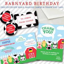 barnyard birthday invitation customized farm themed invitation