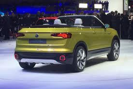 yellow volkswagen convertible volkswagen t cross breeze convertible crossover debuts in geneva
