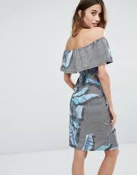 warehouse cheap coats sale warehouse palm print bardot dress