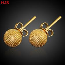 aliexpress buy new arrival 18k real gold plated small size stud earrings for 18k