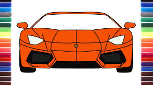 how to draw a car lamborghini aventador front view step by step