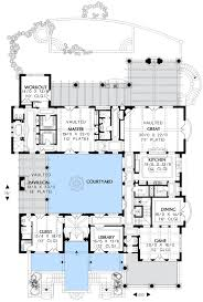 mediterranean floor plans with courtyard mediterranean estate home plan 16374md architectural designs