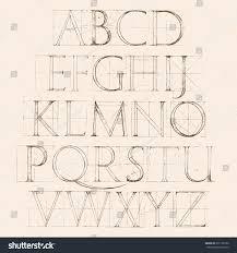 modern roman classic alphabet method geometrical stock vector