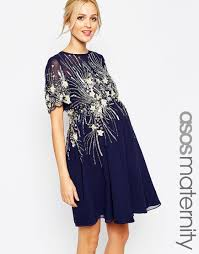 maternity clothes uk asos maternity midi skater dress with embellishment i do no not
