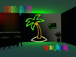palm tree neon light majikgoldys neon lights palm tree wall decor