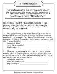 protagonist examples definition and worksheets kidskonnect