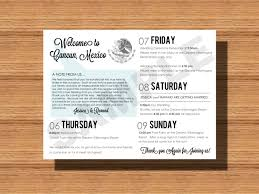 wedding itinerary mexico destination wedding welcome bag weekend itinerary