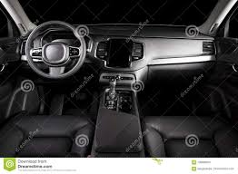Car Interior Dashboard Design Perforated Leather Texture Background For Design Dark Red Stock