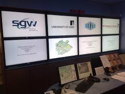 new cctv control room display wall cdc technical services ltd
