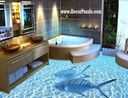 bathroom floor idea decor puzzle