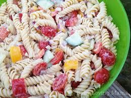 Pasta Salad Recipes With Italian Dressing Light Salsa Ranch Pasta Salad Recipe Finding Zest