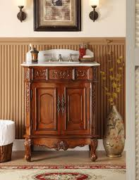 adelina 30 inch antique cherry single sink bathroom vanity