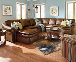 Sectional Sofas With Recliners And Cup Holders La Z Boy Devon 5 Piece Sectional With Ras Chaise And 2 Recliners