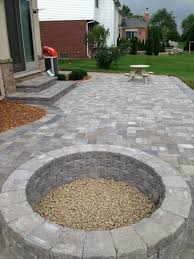 Backyard Pavers Ideas Wall Blocks Pavers And Edging Stones Guide Within Patio Block