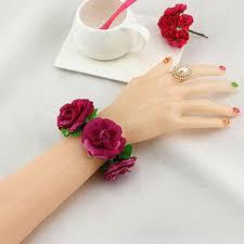 Wedding Wrist Corsage New Silk Flower Wristband Bridal Wrist Corsage Bracelet Wedding