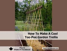 how to make a cool tee garden trellis