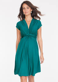 maternity dresses peacock green knot front maternity dress by seraphine