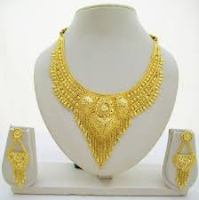 gold plated choker necklace images Indian gold plated choker necklace traditional bridal wedding jpg