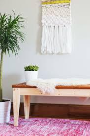woven leather bench diy u2013 a beautiful mess