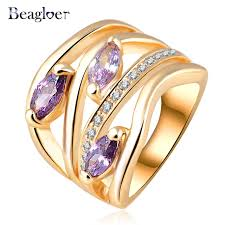 aliexpress buy beagloer new arrival ring gold beagloer newest unique multi layer engagement rings genuine gold
