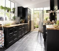 cuisine noir laqué plan de travail bois cuisine marbre noir et bois galerie et cuisine noir laqué plan de