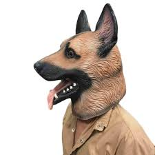 german shepherd dog head mask for halloween next vibe