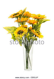 Artificial Sunflowers Sunflowers In Vase In Garden Stock Photos U0026 Sunflowers In Vase In