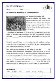 life in the victorian era skills workshop
