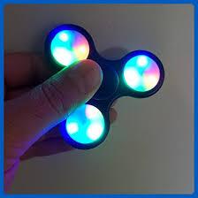 fidget spinner light up blue led light up hand spinner fidget spinner adhd hand spinner