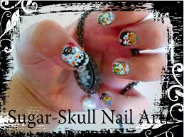 sugar skull nail art u0026 what i did for halloween agirlnamedegypt