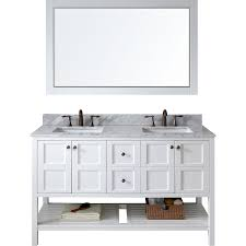 Bathroom Vanities Free Shipping by Virtu Ed 30060 Wmsq Wh Winterfell Double Bathroom Vanity Cabinet