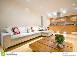 modern open plan living room and kitchen stock image image 14633981
